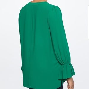 Eloquii Tops - Brand new with tags eloquii tunic with tie cuffs